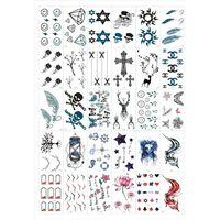 Esfregar - tatuagens temporárias 30 folhas com motivos mistos
