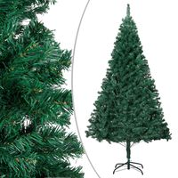 vidaXL Árvore de Natal artificial com ramos grossos 240 cm PVC verde
