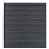 vidaXL Painel de vedação para jardim 180x186 cm WPC cinzento