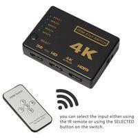 Chave HDMI 5x1 - 4K2K / 3D com controle remoto