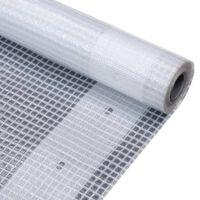 vidaXL Lona em tecido imitação de gaze 260 g/m² 2x4 m branco