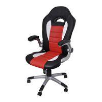 Cadeira de escritório, couro artificial / Vermelho