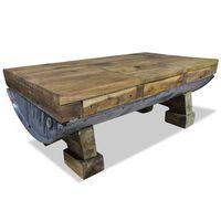 vidaXL Mesa de centro madeira reciclada maciça 90x50x35 cm