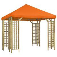 vidaXL Gazebo 3x3 m laranja