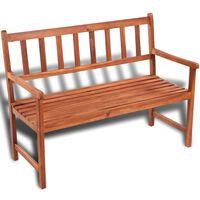 vidaXL Banco de jardim 120 cm madeira de acácia maciça