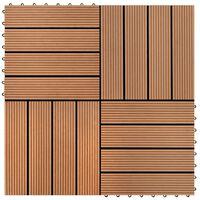 vidaXL Ladrilhos de pavimento 22 pcs WPC 2m² 30x30 cm castanho