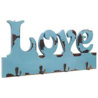 vidaXL Cabide de parede LOVE 50x23 cm