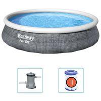 Bestway Conjunto piscina insuflável Fast Set com bomba 396x84 cm