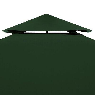 vidaXL Cobertura de substituição p/ gazebo 310 g/m² verde 3x3 m