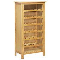 vidaXL Garrafeira 56x32x110 cm madeira de carvalho maciça