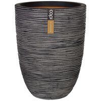Capi Vaso elegante e baixo Nature Rib 36x47 cm antracite KOFZ782