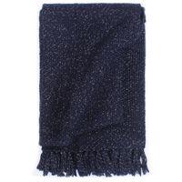 vidaXL Manta em tecido lurex 220x250 cm azul-marinho