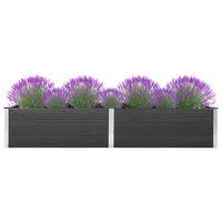 vidaXL Canteiro elevado de jardim 300x100x54 cm WPC cinzento