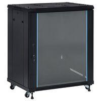 "vidaXL Armário bastidor 18U c/ pés giratórios 19"" IP20 800x600x1000 mm"