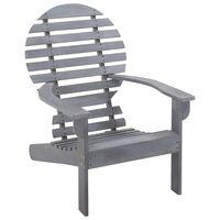 vidaXL Cadeira Adirondack em madeira de acácia maciça cinzento