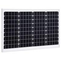 vidaXL Painel solar 40 W alumínio monocristalino e vidro de segurança