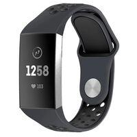 Pulseira Fitbit Charge 3/4 em silicone cinza / preto - S