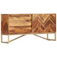vidaXL Aparador em madeira de sheesham maciça 118x30x60 cm