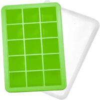 Forma De Gelo 15 Cubos De Silicone Verde