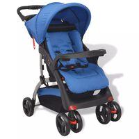 vidaXL Carrinho de bebé azul 102x52x100 cm