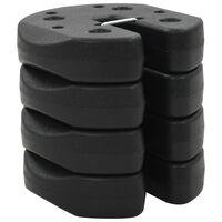 vidaXL Pesos para gazebo em cimento 4 pcs 220x30 mm preto