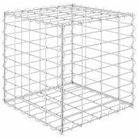 vidaXL Canteiro elevado/cubo gabião 40x40x40 cm cm fio de aço