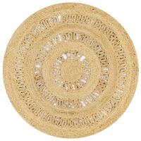 vidaXL Tapete artesanal em juta trançada 90 cm