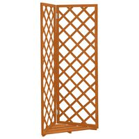 vidaXL Corner Trellis Orange 50x50x145 cm Solid Firwood