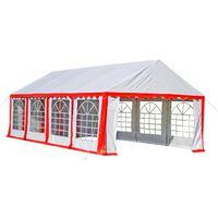 vidaXL Tenda de festa 8 x 4 m vermelho