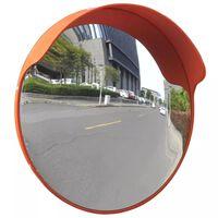 Convex Espelho de trânsito para exterior 45 cm policarbonato laranja