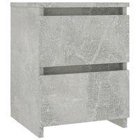 vidaXL Mesa de cabeceira 30x30x40 cm contraplacado cinzento cimento