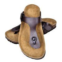 vidaXL Sandálias de cortiça Bio senhora design chinelo tam 37 castanho
