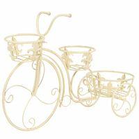 vidaXL Suporte para plantas formato de bicicleta estilo vintage metal
