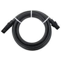 vidaXL Mangueira de sucção com conectores de PVC 10 m 22 mm preto