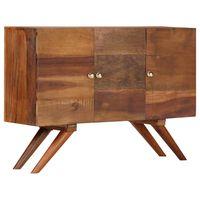 vidaXL Aparador em madeira recuperada maciça 110x30x75 cm castanho