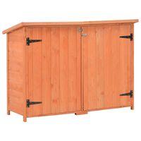 vidaXL Abrigo de arrumação para jardim 120x50x91 cm madeira