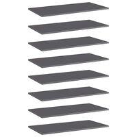 vidaXL Prateleiras para estante 8 pcs 80x40x1,5cm contraplacado cinza