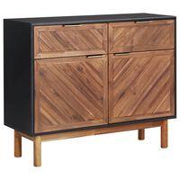 vidaXL Aparador 90x33,5x75 cm madeira de acácia maciça e MDF