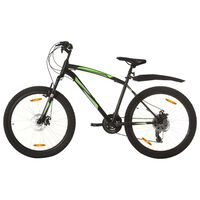 vidaXL Mountain Bike 21 Speed 26 inch Wheel 46 cm Black (92355+92356)