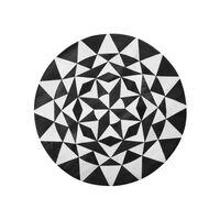 Tapete circular de pele genuína ø 140 cm preto e branco TURGUTLU