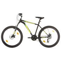 vidaXL Mountain Bike 21 Speed 27,5 inch Wheel 50 cm Black (92348+92349)