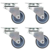 vidaXL 8 pcs rodas giratórias duplas 50 mm