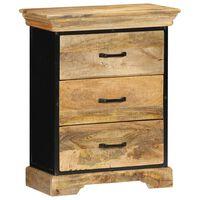 vidaXL Armário de gavetas 60x30x75 cm madeira de mangueira maciça