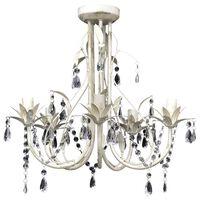 Candelabro com cristais pendente elegante com 5 lâmpadas