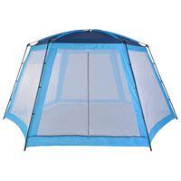 vidaXL Tenda para piscina 590x520x250 cm tecido azul