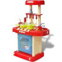 Cozinha brinquedo com luzes e efeitos sonoros para crianças