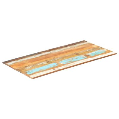 vidaXL Tampo mesa retangular 60x140cm 15-16mm madeira recuper. maciça