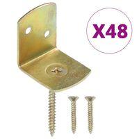 vidaXL Suportes painel de vedação 48 pcs metal galvanizado forma de L