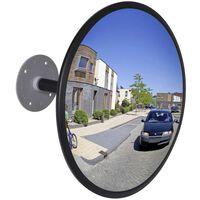 Espelho retrovisor interior convexo em acrílico 30 cm- preto