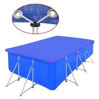 vidaXL Cobertura de piscina retangular PE 90 g/sqm 540 x 270 cm